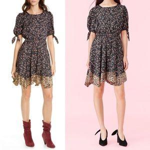 Rebecca Taylor Lia Floral Silk Blend Dress